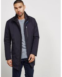 Armani - Mens Long Blouson Padded Jacket Blue - Lyst