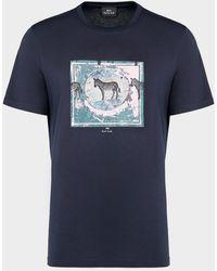 PS by Paul Smith Antique Zebra T-shirt Blue