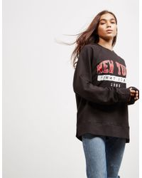 Tommy Hilfiger - Womens Oversized Ny Sweatshirt - Online Exclusive Black - Lyst
