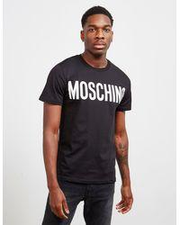 Moschino Classic Logo Short Sleeve T-shirt Black