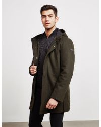 Armani Exchange Wool Trench Coat Green