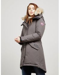 Canada Goose Rossclair Padded Parka Jacket Gray