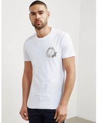 Versace Jeans - Mens Foil Leaf Short Sleeve T-shirt White - Lyst