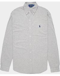 Polo Ralph Lauren Mesh Long Sleeve Shirt Grey