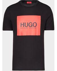 HUGO Dolive Square Short Sleeve T-shirt - Black