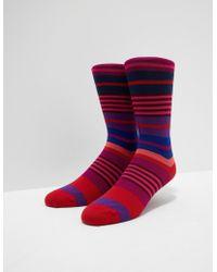 PS by Paul Smith - Mens Fennel Stripe Socks Pink - Lyst