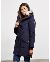 Canada Goose Rossclair Padded Parka Jacket Blue