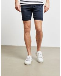 Replay Hype Chino Shorts - Online Exclusive Navy Blue