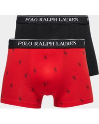 Polo Ralph Lauren - Mens 2-pack Boxer Shorts Red - Lyst