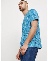 PS by Paul Smith - Mens Dye Stripe Short Sleeve T-shirt Navy Blue - Lyst