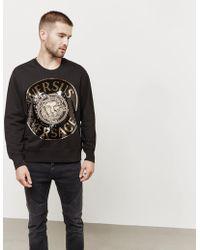 Versus - Mens Sequin Lion Sweatshirt Black - Lyst