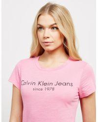 Calvin Klein - Womens Tamar-49 Short Sleeve T-shirt Pink - Lyst