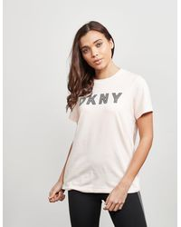 DKNY Track Logo Short Sleeve T-shirt Pink
