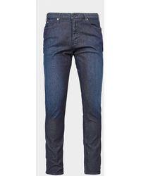 Emporio Armani J06 Slim Silver Eagle Jeans - Blue