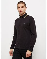 Vivienne Westwood - Mens Orb Long Sleeve Polo Shirt Black - Lyst