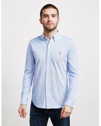 Polo Ralph Lauren - Mens Pique Long Sleeve Oxford Shirt - Online Exclusive Blue - Lyst