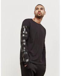 HUGO - Mens Demeos Long Sleeve T-shirt Black - Lyst