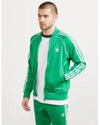 adidas Originals Mens Superstar Full Zip Track Top Green