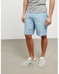 Polo Ralph Lauren - Mens Embroidered Shorts Blue - Lyst