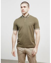 Z Zegna - Tipped Short Sleeve Polo Shirt Green - Lyst
