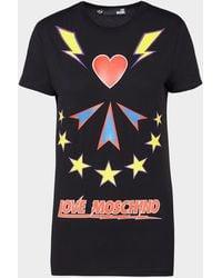 Love Moschino Bowie Short Sleeve T-shirt - Black