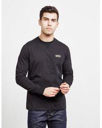 Barbour Small Logo Long Sleeve T-shirt - Black