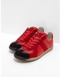 Maison Margiela Replica Spray Trainers Red