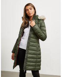 Tommy Hilfiger Essential Long Jacket Khaki - Green