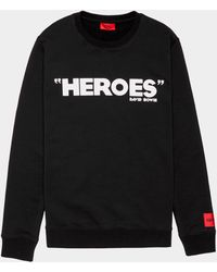 HUGO - David Bowie Heroes Sweatshirt Blk/blk - Lyst