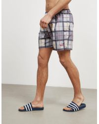 Barbour - Mens Tartan Swimshorts Grey - Lyst