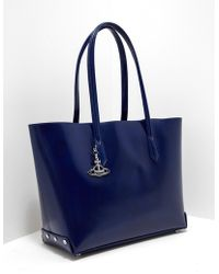 Vivienne Westwood - Womens Sarah Large Shopper Bag Blue - Lyst