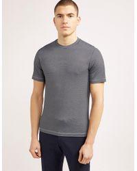 Armani - Mens Pattern Short Sleeve T-shirt Black/white - Lyst
