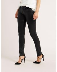 PAIGE - Womens Verdugo Coated Skinny Jeans Black - Lyst