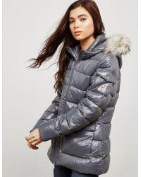Pyrenex - Womens Authentic Padded Shiny Jacket Grey - Lyst