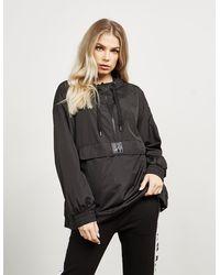DKNY Hooded Windbreaker Jacket Black