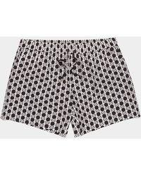 Balmain All Over Print Swim Shorts - Black