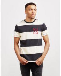 Nudie Jeans Stripe Short Sleeve T-shirt - White