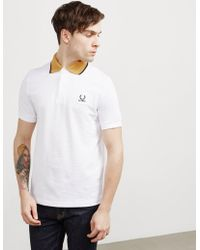 Fred Perry - Mens X Raf Simons Contrast Short Sleeve Polo Shirt White - Lyst