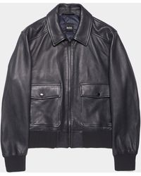 BOSS by Hugo Boss Gonel Leather Jacket Black