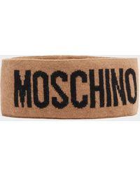 Moschino Knitted Headband - Brown
