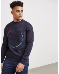 PS by Paul Smith - Mens Circle Crew Sweatshirt Navy Blue - Lyst