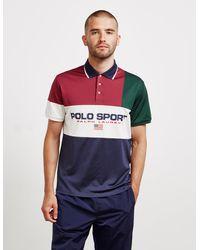 Polo Ralph Lauren Logo Tech Pique Polo Shirt - Red