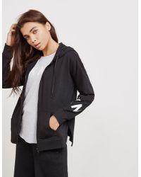 DKNY - Womens Full Zip Hoodie Black - Lyst
