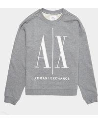 Armani Exchange Large Logo Sweatshirt - Grey
