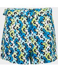 Michael Kors Floral Shorts - Blue