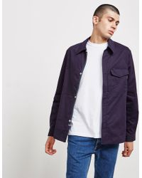 PS by Paul Smith - Mens Stretch Cotton Jacket Navy Blue - Lyst