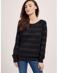 Armani Jeans - Womens Burn Out Knit Black - Lyst