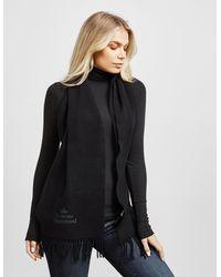 Vivienne Westwood Wool Emroidered Scarf Black