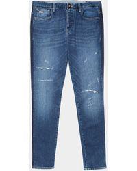 Emporio Armani J11 Skinny Jeans Mid Wash - Blue