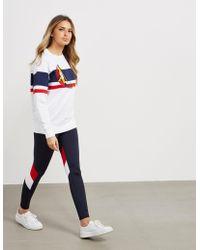 Polo Ralph Lauren - Womens Cp-93 Sail Stripe Sweatshirt White - Lyst